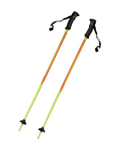 1-teilige Aluminium-Skistöcke mit zweifarbigem Kunststoffgriff