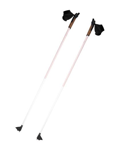 Skistöcke aus Aluminium-Kohlefaser OEM-Langlauf-Skistöcke mit 1 Abschnitt und Korkgriffen